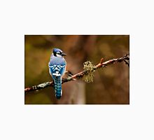Blue Jay On Branch Unisex T-Shirt
