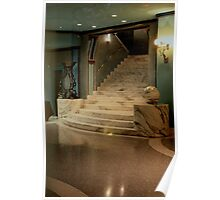 Elegant staircase Poster