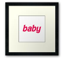 Baby Barbie Text Framed Print