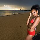 St Kilda beach model shoot 3 by Stephen Colquitt