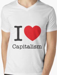 I Love Capitalism Mens V-Neck T-Shirt