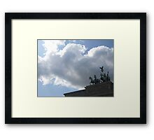 Charging into the Clouds Framed Print