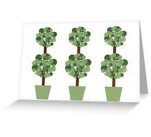 Triple topiary Greeting Card