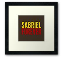 Ship Loyalty - Sabriel by @I_am_the_Impala on Twitter Framed Print