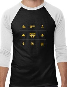 Camera White Balance Tic Tac Men's Baseball ¾ T-Shirt