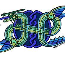 Knotwork Ogopogo by Meredith Nolan