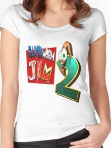 Earthworm Jim - EWJ2 Logo Women's Fitted Scoop T-Shirt