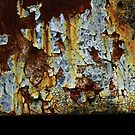 Abstract Train Detail - Perris, CA by Larry Costales
