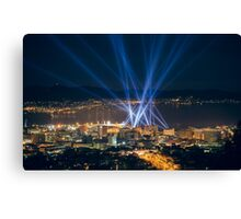 Articulated Intersect Over Hobart Canvas Print