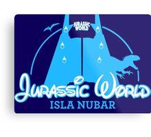 Jurassic World Disney Castle (BLUE) Metal Print