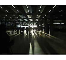 Sunset at St Pancras Photographic Print