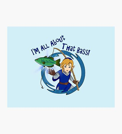 All About That Bass - Link Blue Photographic Print