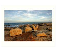 Coastal Sculptures Art Print