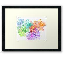 Watercolor Indominus Rex (White) Framed Print