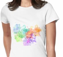Watercolor Indominus Rex (White) Womens Fitted T-Shirt