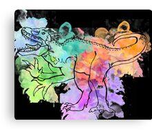 Watercolor Indominus Rex (Black) Canvas Print