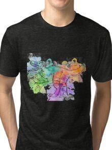 Watercolor Indominus Rex (Black) Tri-blend T-Shirt
