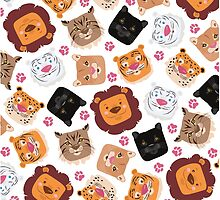 Smiley cats by geminiska