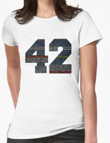 Hitchhiker's Guide 42 Quotes Womens Fitted T-Shirt