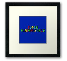 Super Minion World by @Saundra89 on Twitter Framed Print