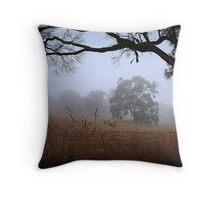 Foggy Summer Evening, Mount Barker Throw Pillow