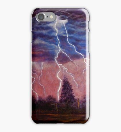 Thunder and lightning storm iPhone Case/Skin
