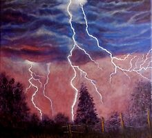 Thunder and lightning storm by Dan Wagner