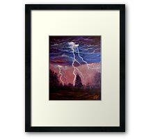 Thunder and lightning storm Framed Print