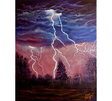 Thunder and lightning storm Photographic Print