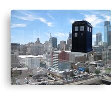 TARDIS Over Philly Canvas Print
