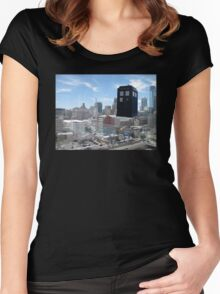 TARDIS Over Philly Women's Fitted Scoop T-Shirt
