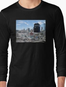 TARDIS Over Philly Long Sleeve T-Shirt