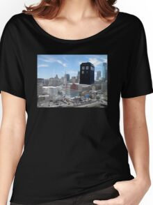 TARDIS Over Philly Women's Relaxed Fit T-Shirt
