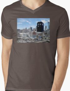 TARDIS Over Philly Mens V-Neck T-Shirt