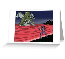 Elder God verses EVA: End of Evangelion Greeting Card