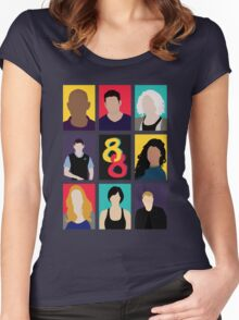 Sense8 Colors Women's Fitted Scoop T-Shirt