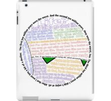 Hitchhiker's Guide Marvin Quotes iPad Case/Skin