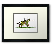 Charging Knight Framed Print