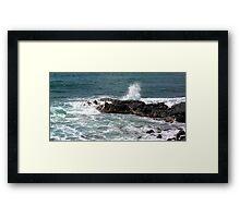 surf kauia high tides Framed Print