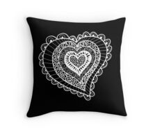 Lace Heart Throw Pillow
