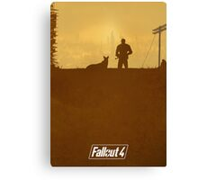 FALLOUT 4 - Minimal Poster Design Canvas Print