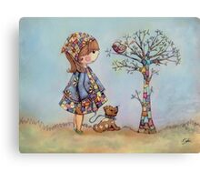 The Patchwork Tree Canvas Print