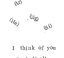 I Think Of You Periodically by bluespecsstudio