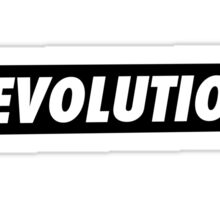 'REVOLUTION' Simple but Stylish Typographical Design Sticker