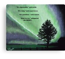 The Sentinel of the heart. Canvas Print