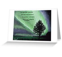 The Sentinel of the heart. Greeting Card