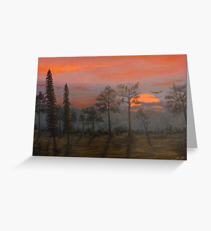 Silent Sentinels in the Sunset. Greeting Card