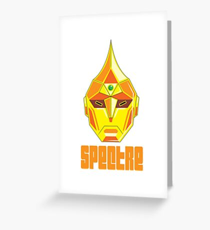 SPECTRE FACE Greeting Card