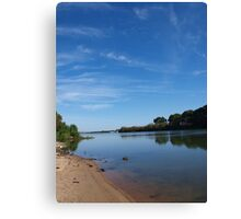 Blue Day At The River Canvas Print