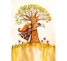 tree hugs Photographic Print